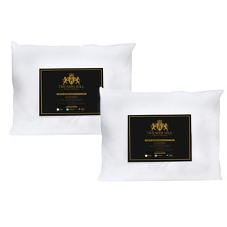 Triumph Hill Cotton White Down Bed Pillows (Set of 2)