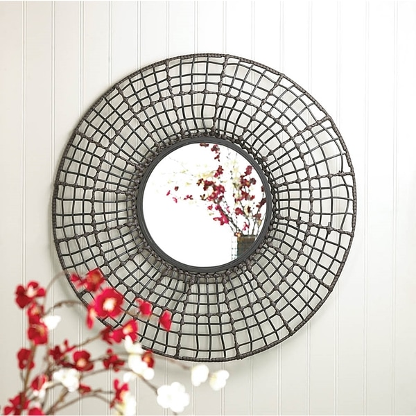 Wired Mesh Circular Wall Mirror