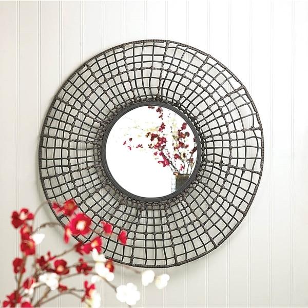 Wired Mesh Circular Wall Mirror