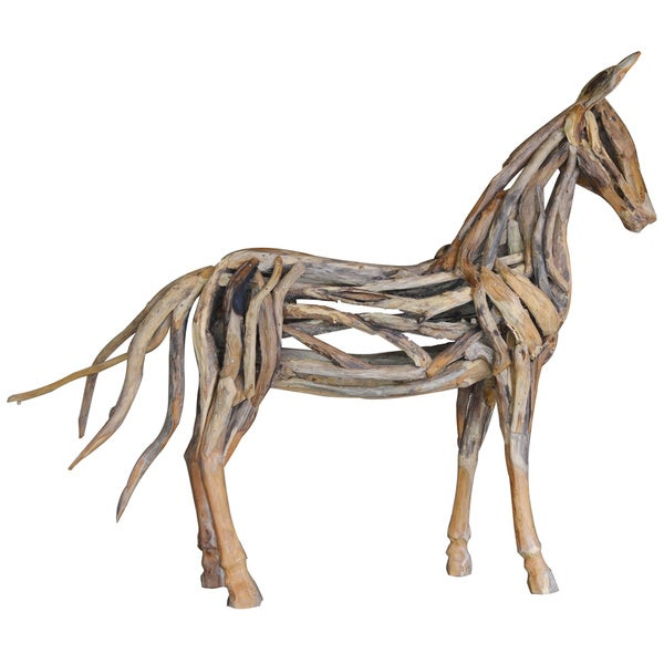 Handmade Life-size Teak Horse