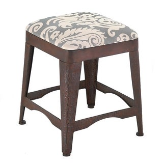 Antique Damask Cushioned Stool