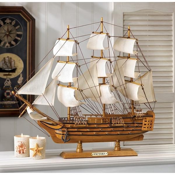 Unique HMS Victory Wooden Boat Model