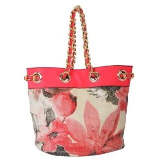Rimen & Co. Floral Print Tote Handbag