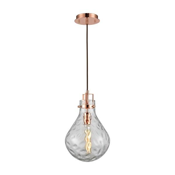 Elk Dewdrop 1-light LED Pendant in Polished Copper
