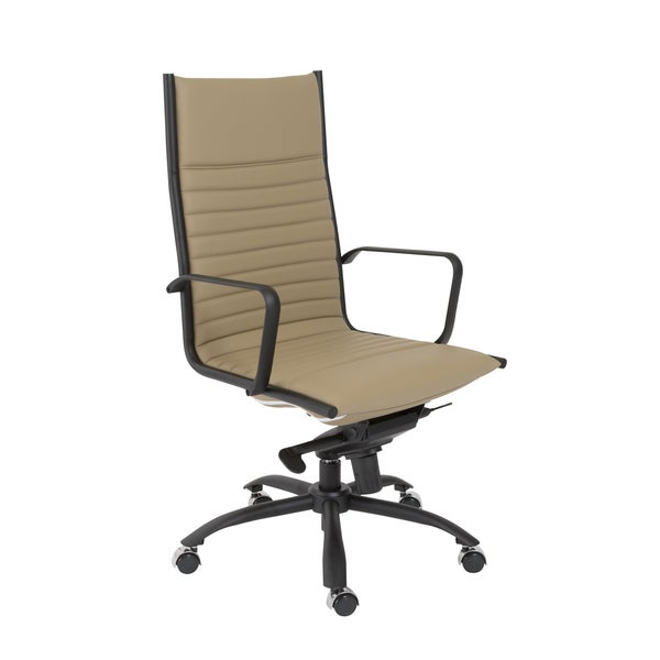 Euro Style Taupe/ Matte Black Dirk-PC HB Office Chair