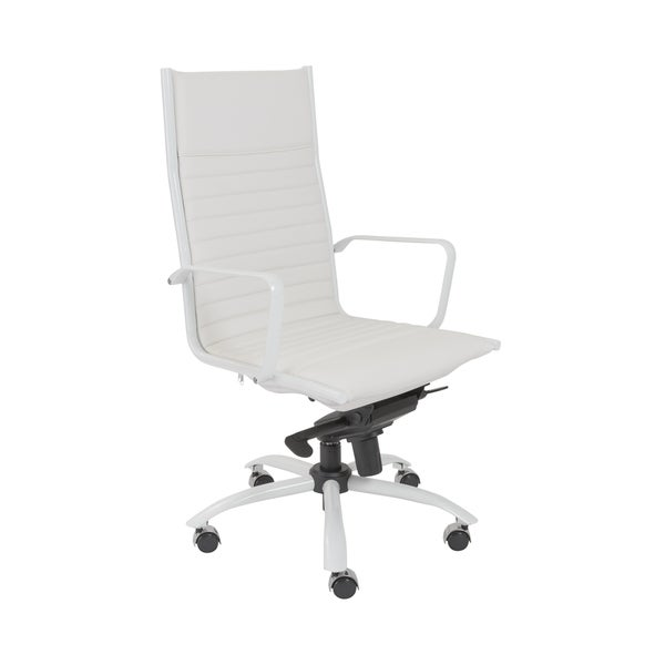 Euro Style White Dirk-PC HB Office Chair