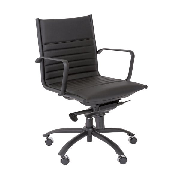 Euro Style Black/ Matte Black Dirk-PC LB Office Chair