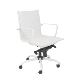 Euro Style White Dirk-PC LB Office Chair
