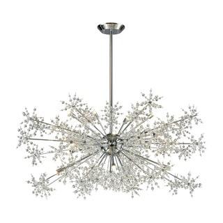 Elk Snowburst 20-light LED Chandelier in Polished Chrome