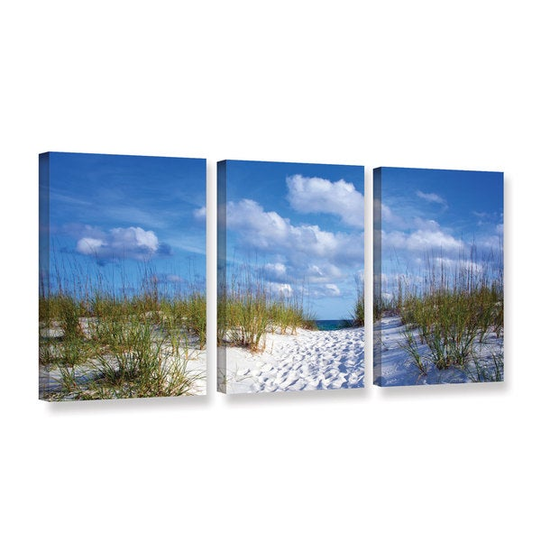 ArtWall David Kyle's Path to The Ocean, 3 Piece Gallery Wrapped Canvas Set