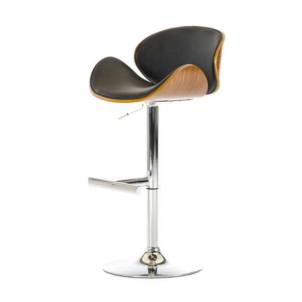 Modrest T-4044 Modern Black & Walnut Bar Stool