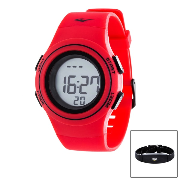 Everlast Red HR6 Heart Rate Monitor Watch with Transmitter Belt