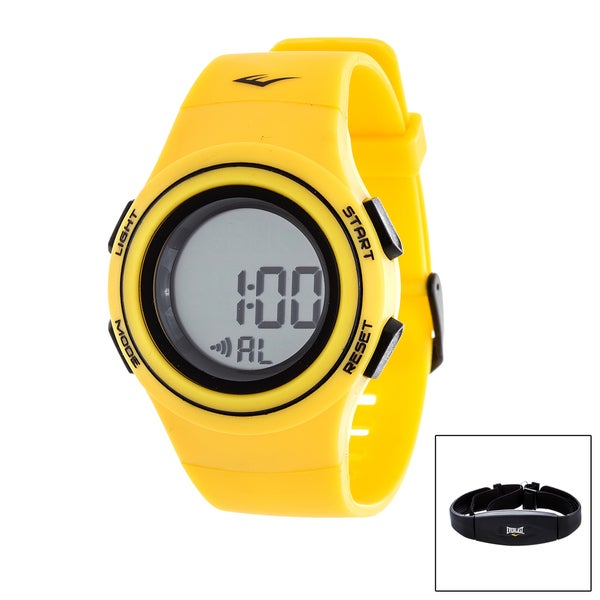 Everlast Yellow HR6 Heart Rate Monitor Watch with Transmitter Belt