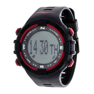 Everlast Fitness Red Activity Tracker W/LED / Sleep PD2 with Pedometer Watch