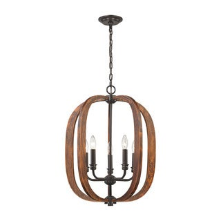 Elk Wood Arches 5-light LED Chandelier in Oil Rubbed Bronze