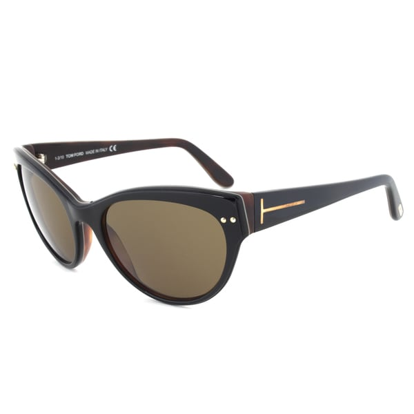 Tom Ford TF174 05E Karina Black/Tortoise Cateye Sunglasses