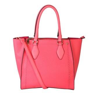 Rimen & Co. Double Zipper Roomy Satchel Handbag
