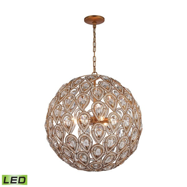 Elk Evolve 8-light LED Chandelier in Matte Gold