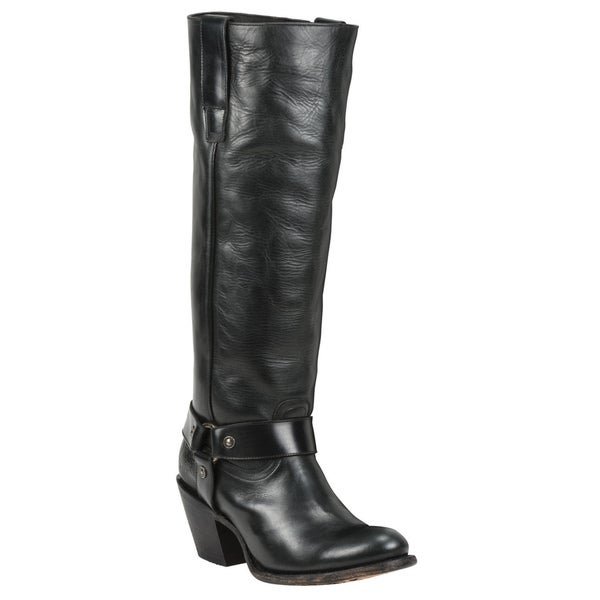 Black Star Leather Vega Black Boot