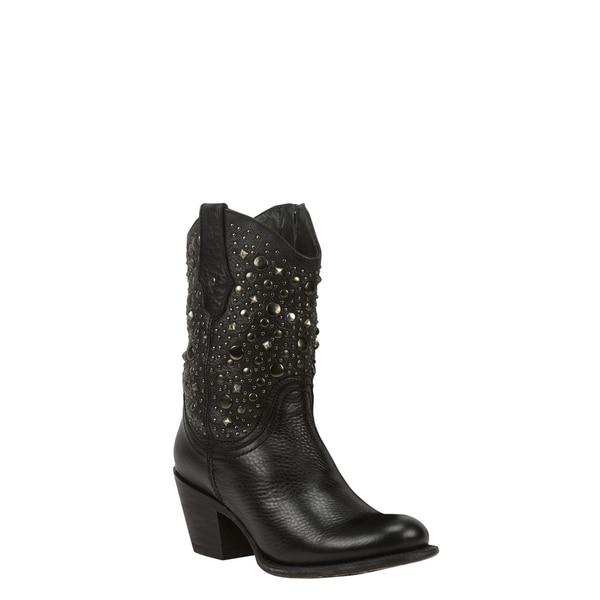 Black Star Leather Gemini Black Boot
