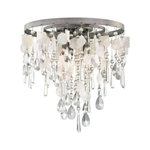 Elk Alexandra 3-light LED Semi Flush in Weathered Zinc