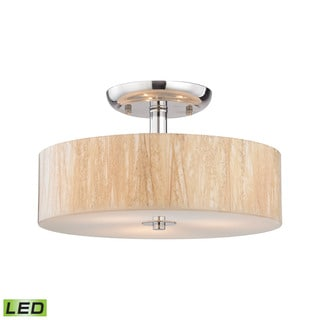 Elk Modern Organics 3-light LED Semi Flush in Polished Chrome
