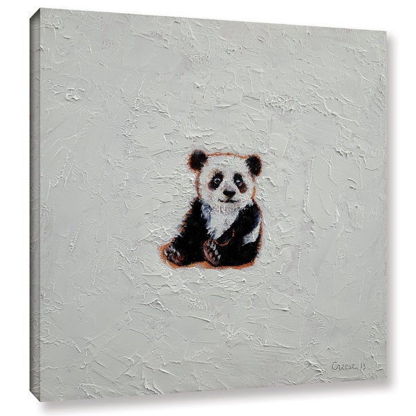 ArtWall Michael Creese's Little Panda, Gallery Wrapped Canvas
