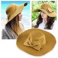 Zodaca Women Bowknot Summer Beach Straw Hat