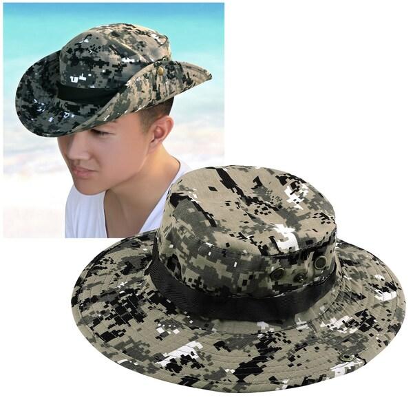 Zodaca Unisex Brown/ Beige Boonie Outdoor Bucket Camouflage Style Hat