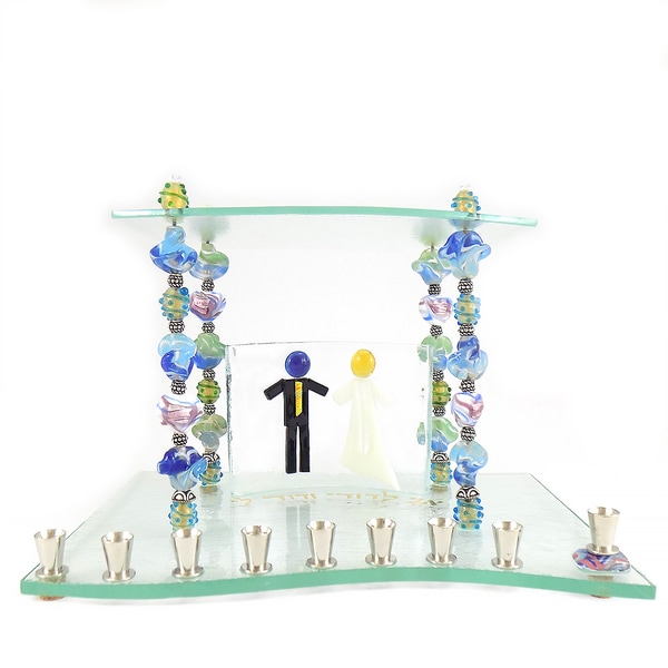 Glass Beads of Life Wedding Menorah