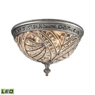 Elk Renaissance 4-light LED Flush in Weathered Zinc