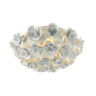 Elk Bouquet 2-light LED Flush in Matte White