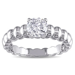 Miadora Signature Collection 14k White Gold 7/8ct TDW Diamond Solitaire Engagement Ring (F, I1-I2)