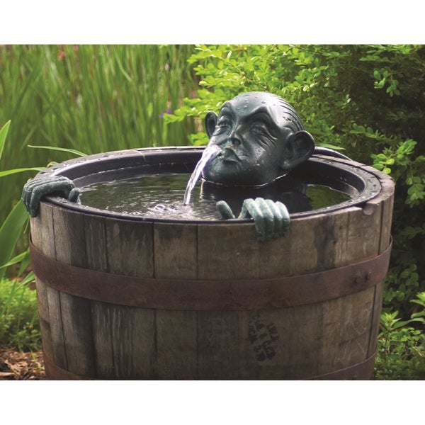 Man in barrel spitter fountain 18323855 for Pond stuff for sale