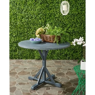 Safavieh Arcata Outdoor Ash Grey Round Table