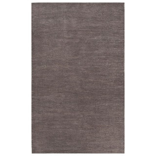 Solids Solids & Heather Pattern Gray Wool and Cotton Area Rug (9x12)