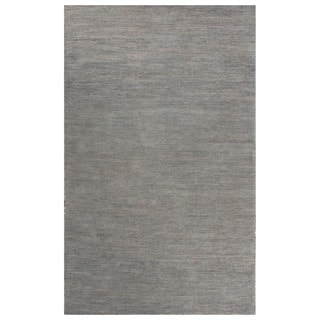 Solids Solids & Heather Pattern Blue Wool and Cotton Area Rug (9x12)