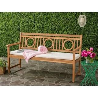 Safavieh Montclair Outdoor Teak Brown/ Beige 3 Seat Bench