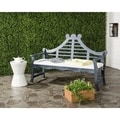 Safavieh Azusa Outdoor Ash Grey/ Beige Bench