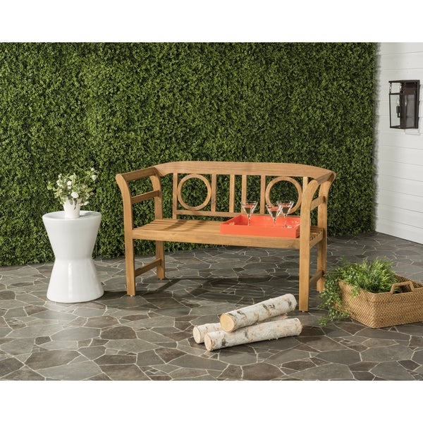 Safavieh Moorpark Outdoor Teak 2 Seat Bench
