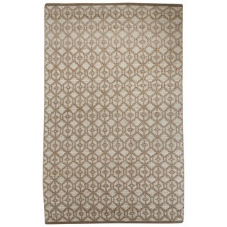 Naturals Tribal Pattern Gray Jute and Chinille Area Rug (8x10)