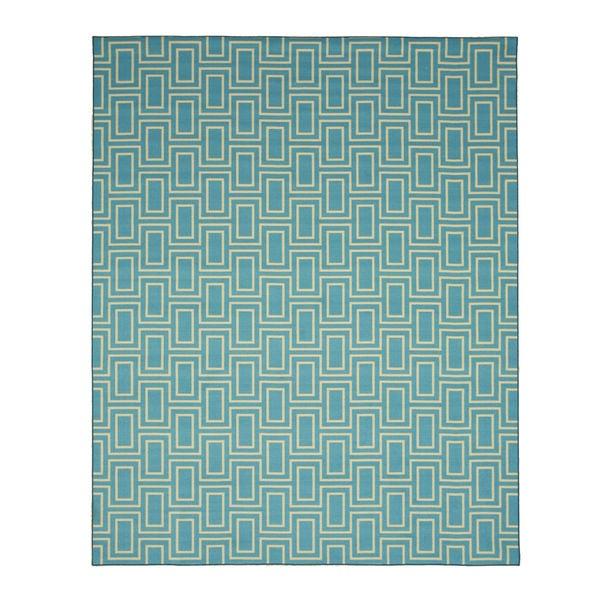 Blue Contemporary Geometric Brandon Rug (4'3 x 5'11) - 4'3 x 5'11 17483028