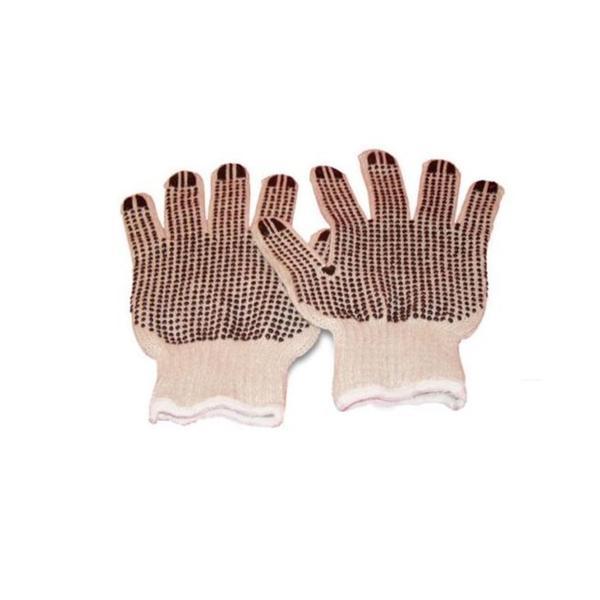 Black Double Dot Work Gloves 12 Pairs 1 Dz/ Case Men's Size