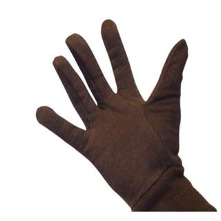 Brown Jersey Work Gloves Size Men (24 Pairs) - 2 Dozen