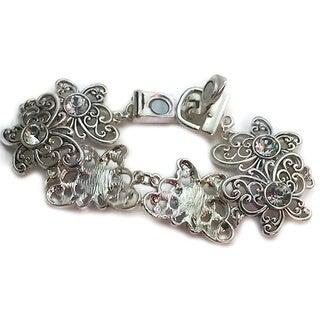 Mama Designs Handmade Link Butterfly Silver Magnetic Bracelet