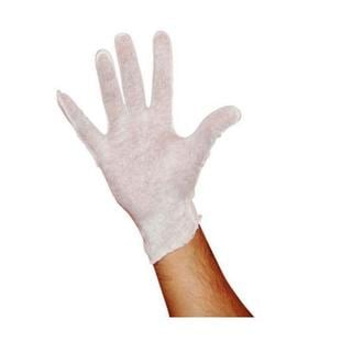 12 Pairs White Inspection Cotton Lisle Gloves For Men's
