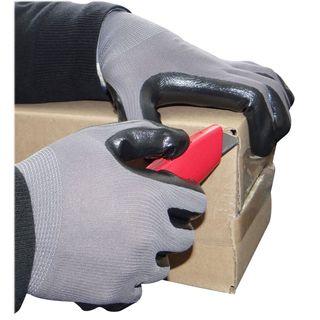 1 Dozen Nitrile Dipped Grey Nylon Disposable Industrial Work Gloves-size Large