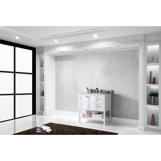 Virtu USA Winterfell 36-inch Single Bathroom Vanity Cabinet Set in Cherry