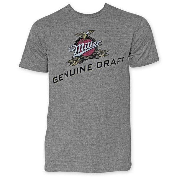 Miller Genuine Draft Men's Grey T-Shirt