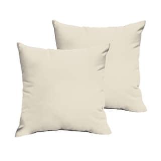 Sloane Ivory 18 x 18-inch Indoor/ Outdoor Knife Edge Pillow Set